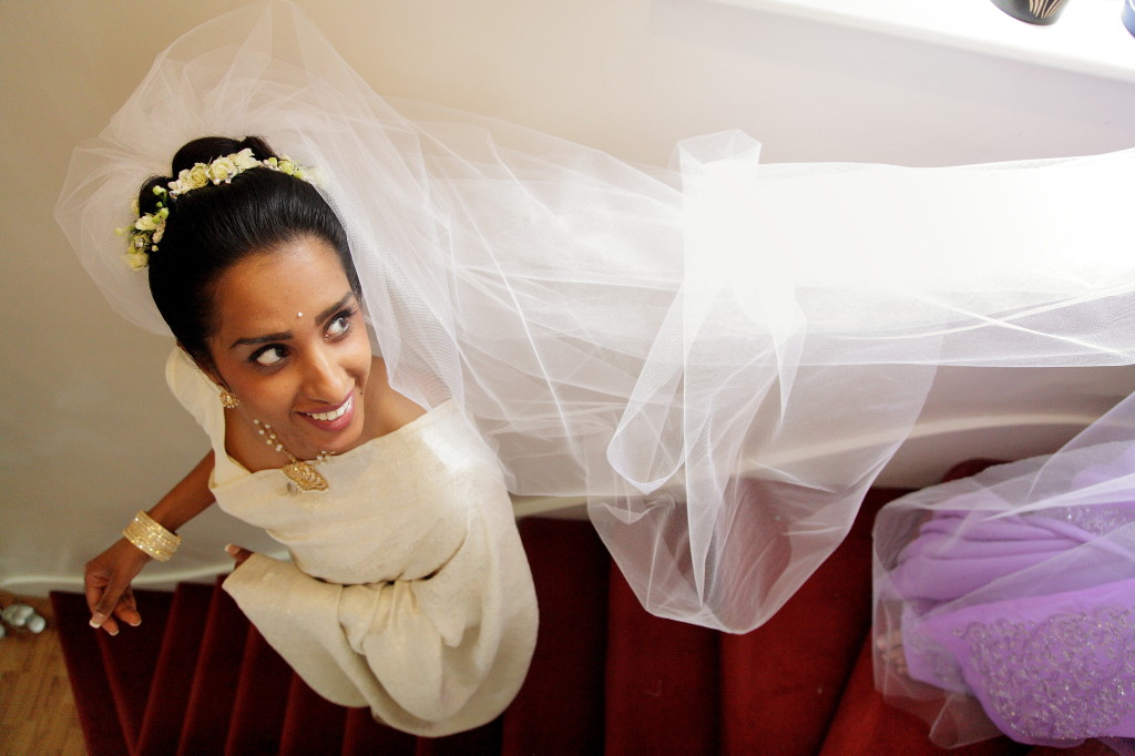 Excited Bride With Veil