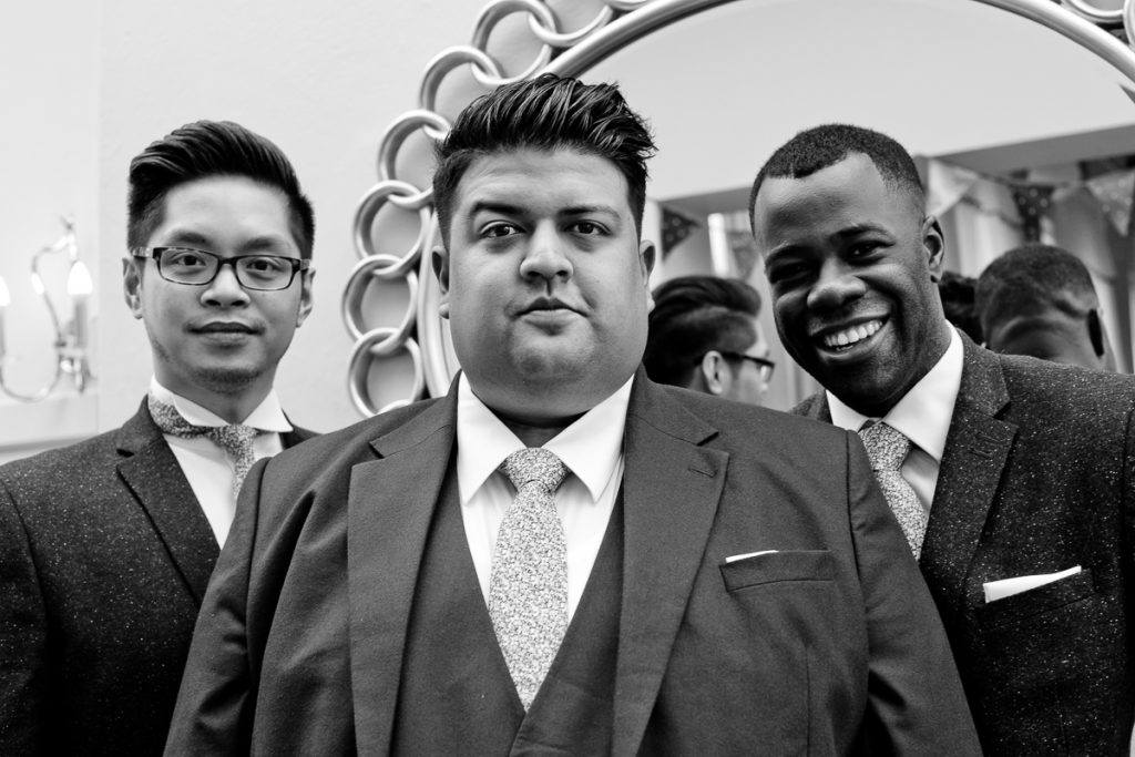 Black and white photography south London wedding